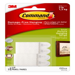 Command Small Picture Hanging Strips, 4 Pairs of Strips Per Pack