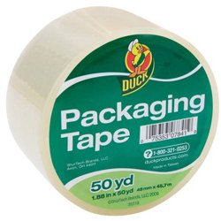 Duck Standard Packing Tape 1.88 in. x 50 yd., Clear, 1-Count