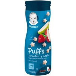 Gerber Puffs Strawberry Apple 1.48 oz. Canister