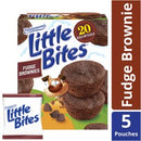 Entenmann's Little Bites Fudge Brownie Mini Muffins made with Real Chocolate, 5 pouches