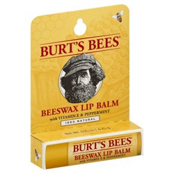 Burt's Bees Beeswax Lip Balm With Vitamin E & Peppermint 0.15 oz Balm