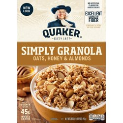 Quaker Simply Granola, Oats, Honey & Almonds, 28 oz Box