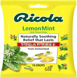 Ricola Herb Throat Drops Lemon Mint Sugar Free - 19 CT