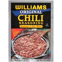Williams Original Chili Seasoning 2 oz. Packet