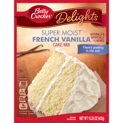 Betty Crocker Super Moist French Vanilla Cake Mix, 15.25 oz