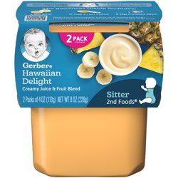 Gerber 2nd Foods Hawaiian Delight Baby Food 4 oz. Tubs 2 Count