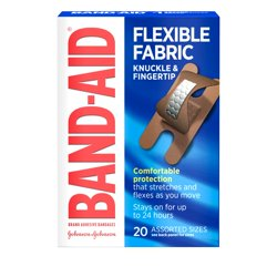 Band-Aid Brand Flexible Fabric Adhesive Bandages, Finger and Knuckle, 20 ct