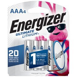 Energizer Ultimate Lithium AAA Batteries, Triple A Batteries (4 Pack)