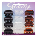 Goody Small Basic Half-Claw Clips Hair Clips in Assorted Colors 12 Pk