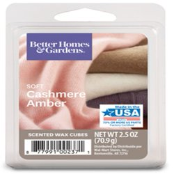 Soft Cashmere Amber Scented Wax Melts, Better Homes & Gardens, 2.5 oz