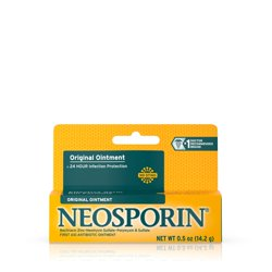 Neosporin Original First Aid Antibiotic Ointment with Bacitracin, Zinc For 24-hour Infection Protection, Wound Care Treatment and the Scar appearance minimizer for Minor Cuts, Scrapes and Burns,.5 oz