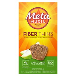 Metamucil Fiber Supplement Thins, Apple Crisp Flavor, 12 Ct