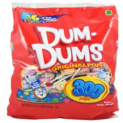 Dum-Dums Assorted Flavors Original Pops, 50 Oz., 300 Count