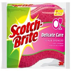 Scotch-Brite Delicate Care Non-Scratch Scrub Sponge, 3 Count