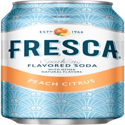 Fresca Peach Sparkling Soda, 12 Fl. Oz., 12 Count