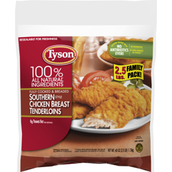 Tyson® Fully Cooked Southern Style Chicken Tenders, 40 oz. (Frozen)
