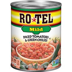 RO*TEL Mild Diced Tomatoes and Green Chilies 28 Ounce