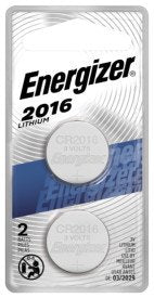 Energizer 2016 Batteries, Lithium Coin Cell 3V Batteries (2 Pack)