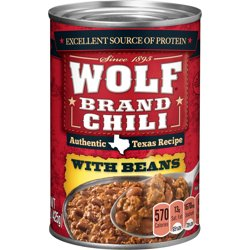 WOLF BRAND Chili With Beans 15 oz.