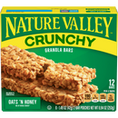 Nature Valley Crunchy Granola Bars, Oats 'n Honey, 12 Ct, 8.94 Oz