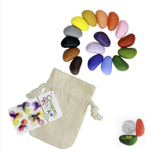 Crayon Rocks - 16 Colours  - Muslin Bag