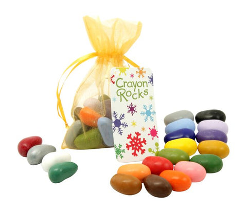 Crayon Rocks - 20 Colours in Gold Holiday Bag