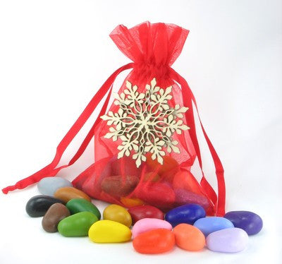 Crayon Rocks - 20 Colours in Red Holiday Bag