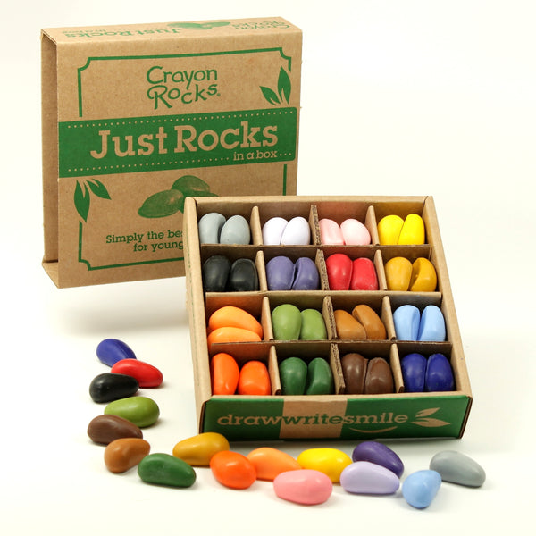Crayon Rocks - 64 (16 x 4) - Just the Rocks in a Box
