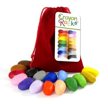 Crayon Rocks - 16 Colours in Red Velvet Bag