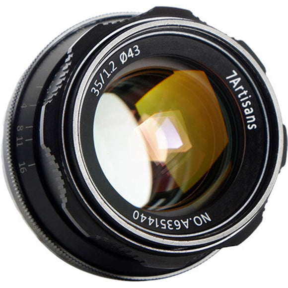 7artisans 35mm F/1.2 Manual Focus Lens for Canon EOS Fuji X Sony E Micro M43 - mons-ster