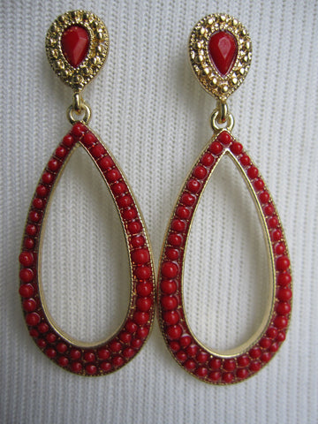 Red Flare Earrings