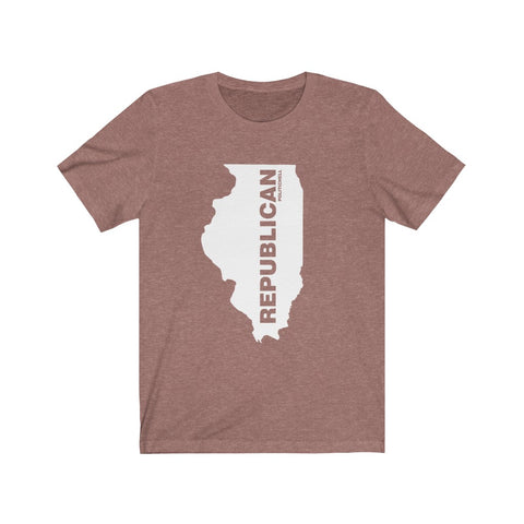 "Illinois Republican ""The State Collection"" Short Sleeve Shirt - PoliticHell"