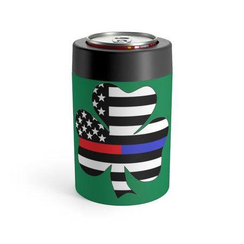 American Flag Clover Red And Blue Stripe Can Holder - PoliticHell
