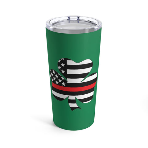 American Flag Clover Red Stripe Tumbler 20 oz - PoliticHell