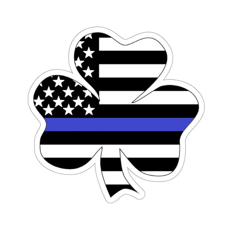 American Flag Clover Blue Stripe Sticker - PoliticHell