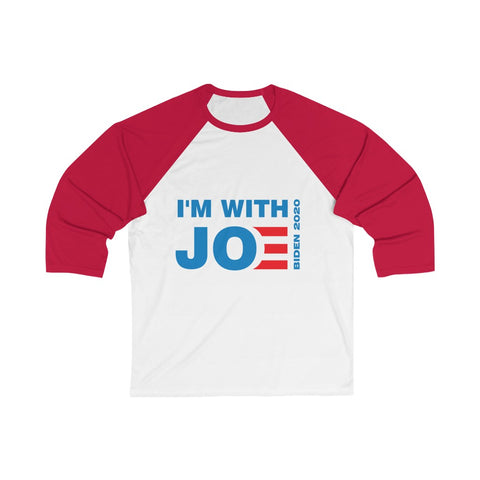 I'm With Joe 3/4 Sleeve Baseball Tee - PoliticHell