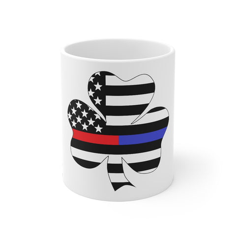 American Flag Clover Blue And Red Stripe Mug 11 oz - PoliticHell