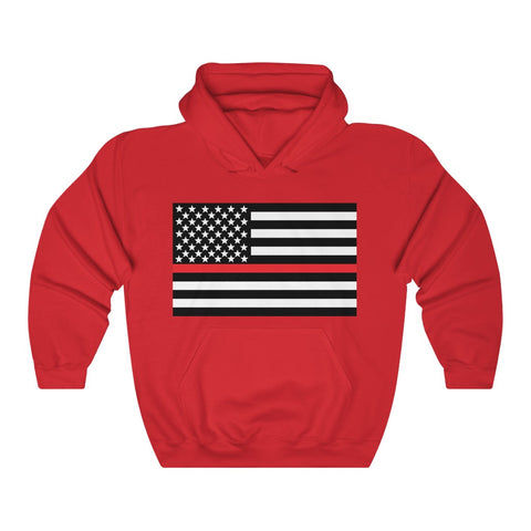 American Flag Red Stripe Hoodie - PoliticHell