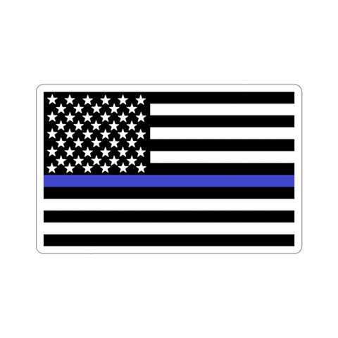 American Flag Blue Stripe Sticker - PoliticHell