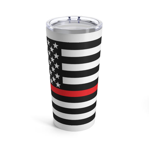 American Flag Red Stripe Tumbler 20 oz - PoliticHell