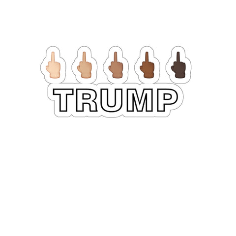 Middle Finger Trump Sticker - PoliticHell