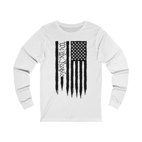 American Flag We The People Unisex Jersey Long Sleeve Tee - PoliticHell