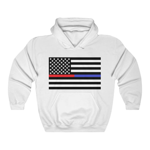 American Flag Blue And Red Stripe Hoodie - PoliticHell