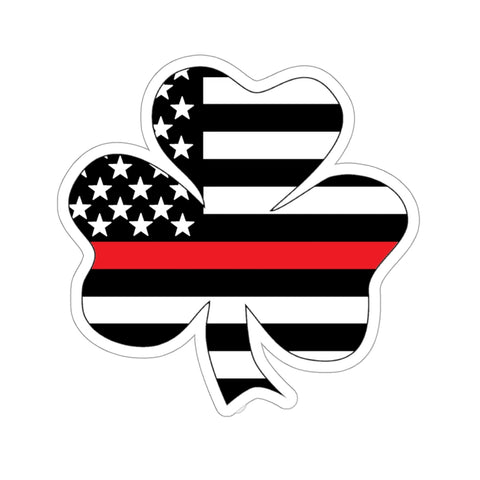 American Flag Clover Red Stripe Sticker - PoliticHell