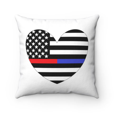 American Flag Heart Blue And Red Stripe Pillow - PoliticHell
