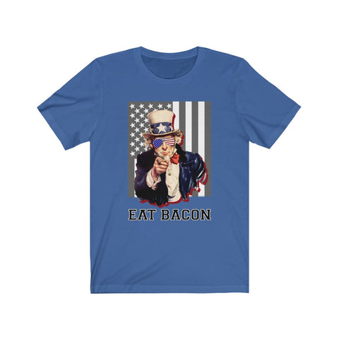 Uncle Sam Eat Bacon Short Sleeve Shirt - PoliticHell