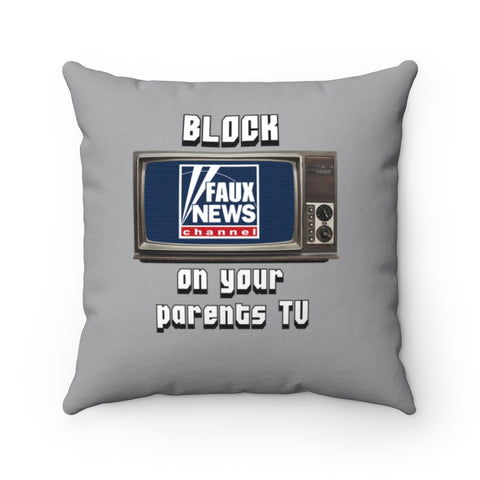 Block Faux News On Your Parents TV Pillow - PoliticHell