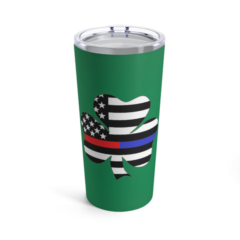 American Flag Clover Blue And Red Stripe Tumbler 20 oz - PoliticHell
