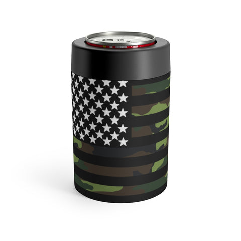 American Flag Camouflage Stripe Can Holder - PoliticHell