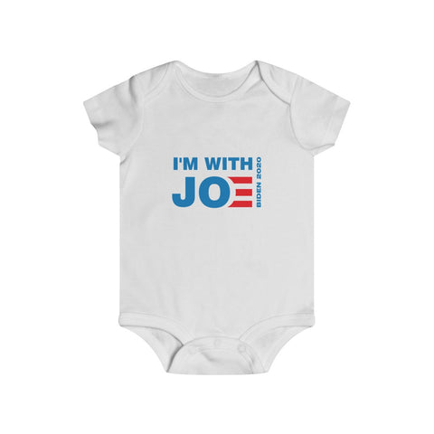 I'm With Joe Bottom Snap Onesie - PoliticHell